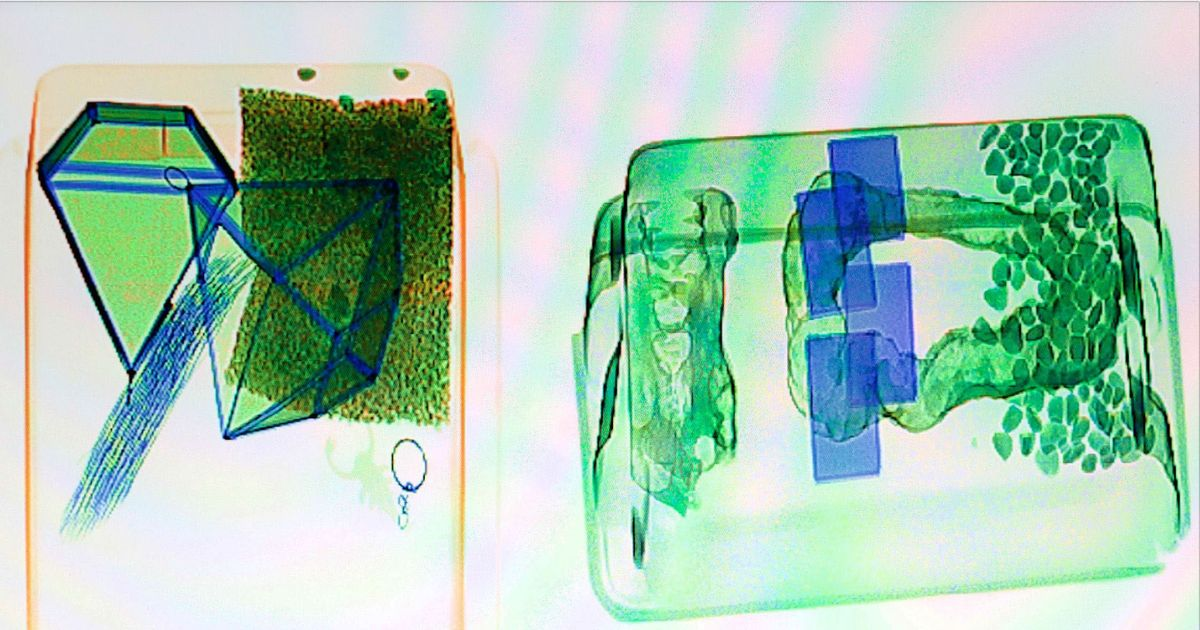 Jillian Mayer Makes Pretty Art From Airport Scanners