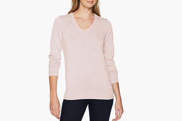 Amazon Essentials Women's Lightweight V-Neck Sweater