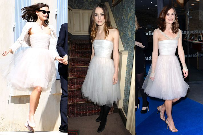 Keira Knightley Beautiful Skinny Person Dares To Wear Dress More Than Once