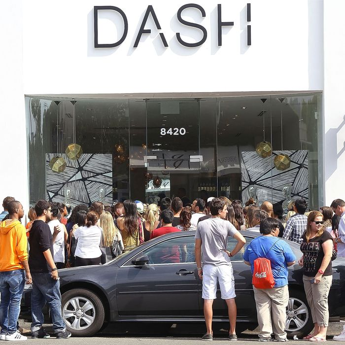 The scene outside the Dash boutique in Beverly Hills.