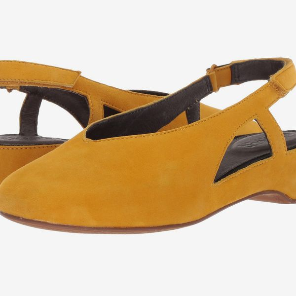 Camper Serena Sandals - strategist best yellow gold sandal with velcro heel strap