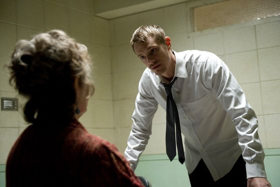 Mama Dips (Grace Zabriskie) and Stephen Holder (Joel Kinnaman) - The Killing _ Season 3, Episode 4 - Photo Credit: Carole Segal/AMC