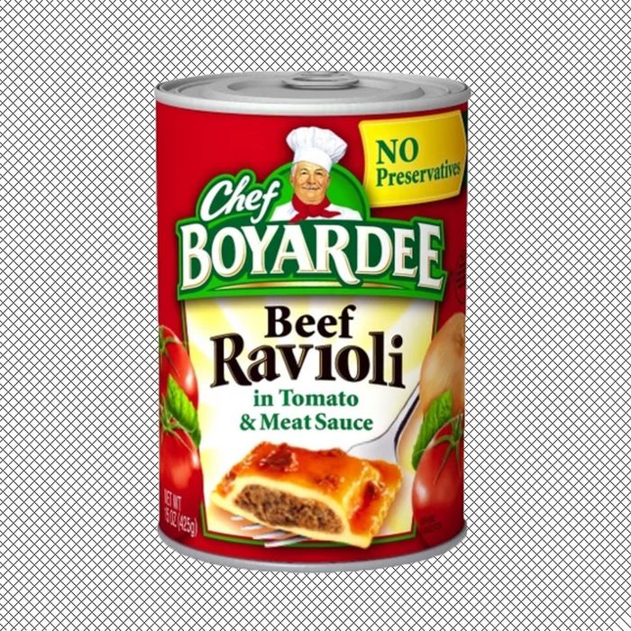 Can of Chef Boyardee.