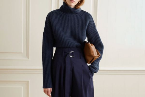 La Ligne Ribbed cashmere turtleneck sweater