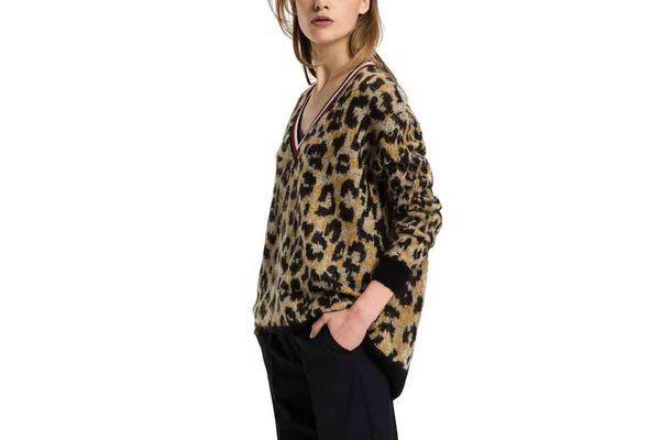 Tommy Hilfiger Mohair V-neck Sweater