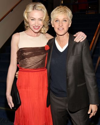 Ellen and her partner, Portia de Rossi.