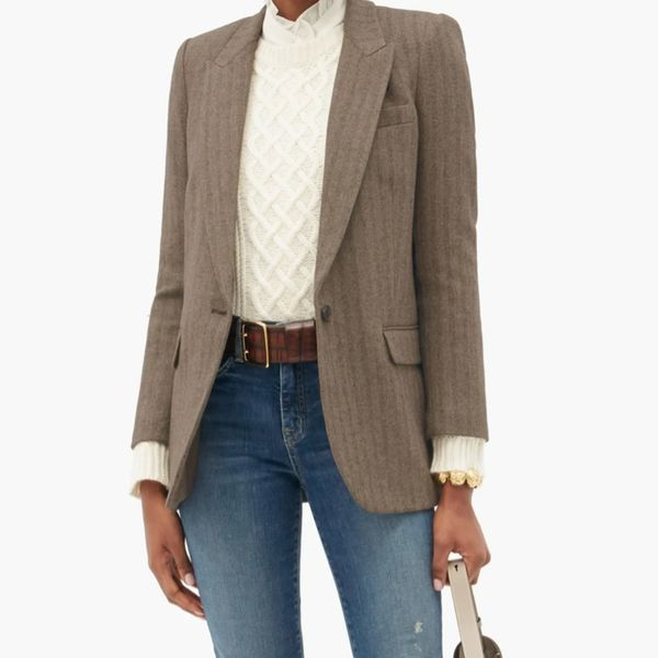Nili Lotan Diane Wool Blend Single-Breasted Blazer