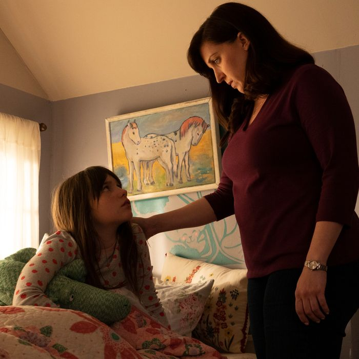 Alexa Swinton as Piper and Allison Tolman as Jo in Emergence.