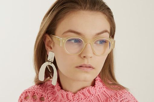 Marni Crystal-Embellished Round Glasses