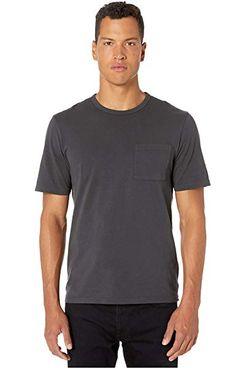 Vince Garment-Dye Single-Pocket Short-Sleeved Crew