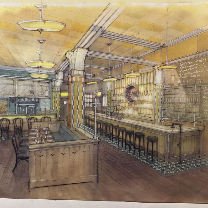 Concept art for Lafayette, opening next month.