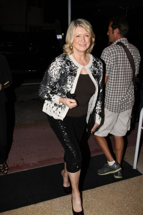 05 Dec 2012, Miami, Florida, USA --- The Webster hosting a Tea Party with Stella McCartney, Owen Wilson, Martha Stewart, Princess Alia Al Senussi of Libya, Marcia Cross and Danny Huston with Olga Kurylenko in Miami Beach. Pictured: Martha Stewart  --- Image by ? Pixel Photo Inc/ /Splash News/Corbis