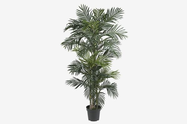 Nearly Natural Golden Cane Palm Silk Tree, 6.5-Feet