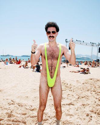 Sacha Baron Cohen in <i>Borat</i>.