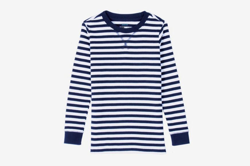 The Long-Sleeve Striped PJ Top