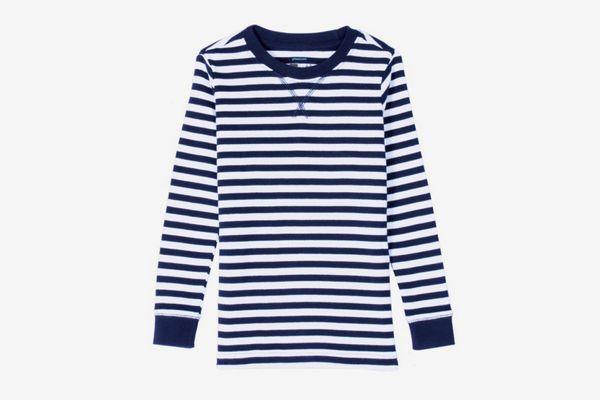 The Long-Sleeve Striped PJ Top