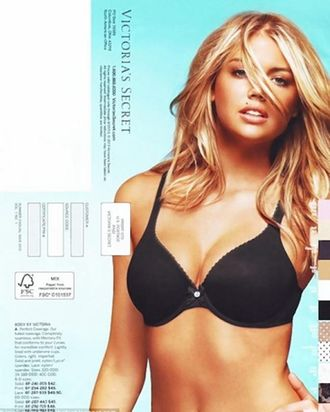Kate Upton's Victoria's Secret back cover.