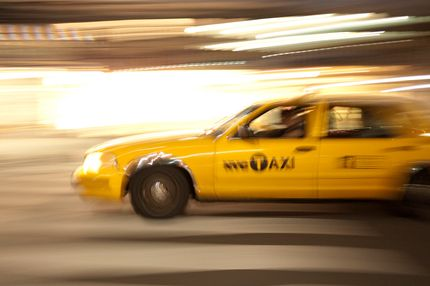 Yellow Taxi cab, Manhattan, New York City, USA.