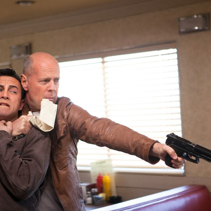 Joseph Gordon-Levitt and Bruce Willis as