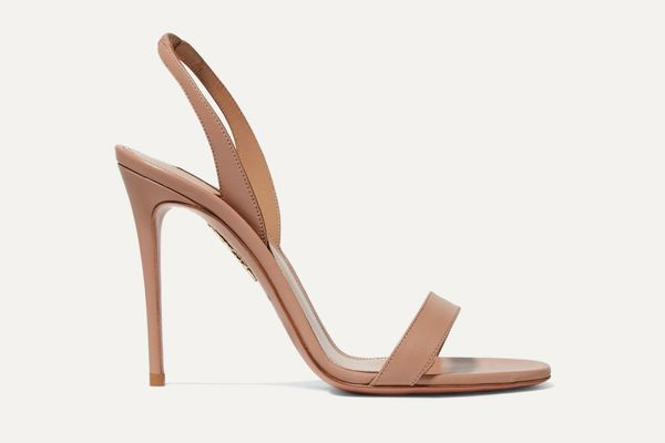 Aquazzura So Nude 105 Leather Slingback Heels