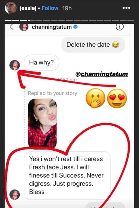 Channing Tatum and Jessie J's Instagram DM.