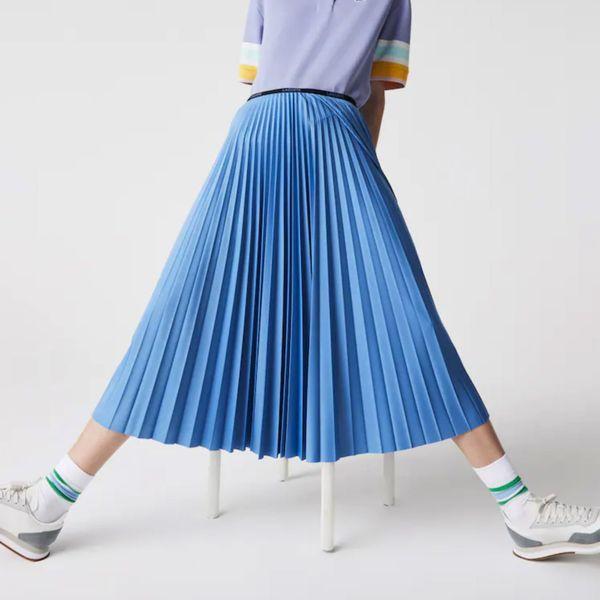 Lacoste Branded Elasticised Pleated Skirt