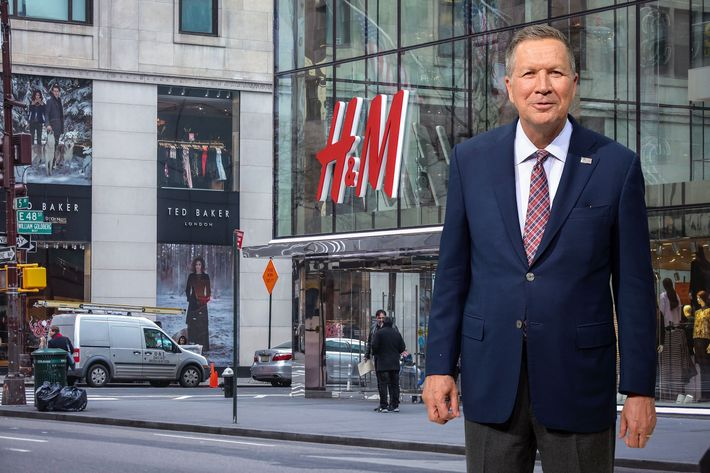 Artist recreation of John Kasich at H&M