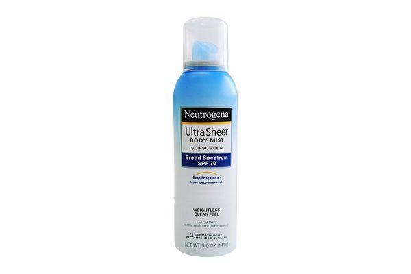 Neutrogena Ultra Sheer Sunscreen Body Mist, SPF 70