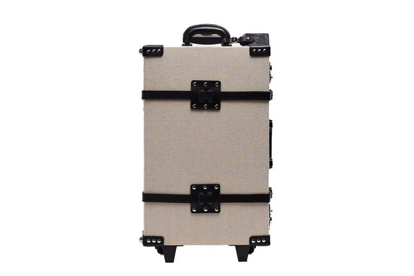 Steamline Luggage the Editor Series Linen and Leather Stowaway