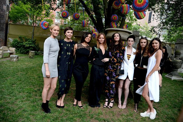 At Stella McCartney's garden party for her 2016 resort collection.