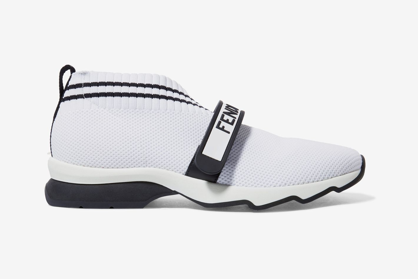 Fendi Rockotop logo-print stretch-knit and mesh slip-on sneakers