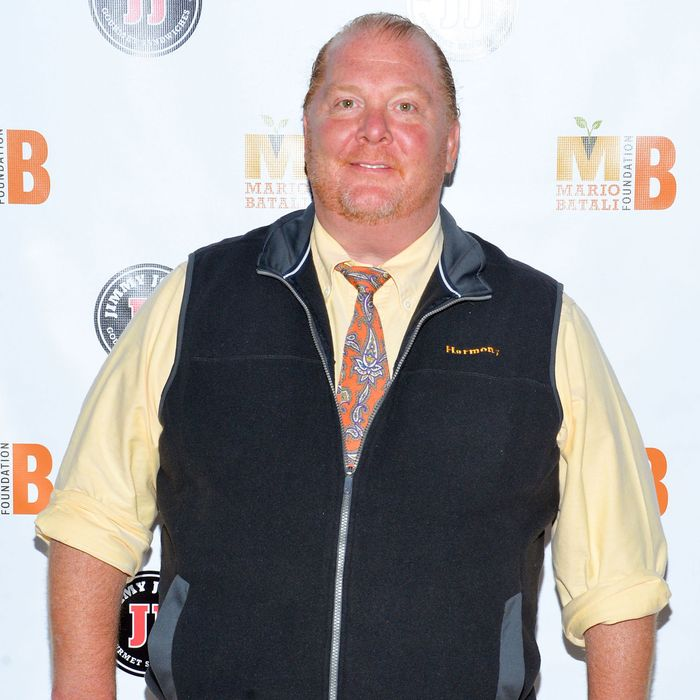 Batali, at last night's gala.