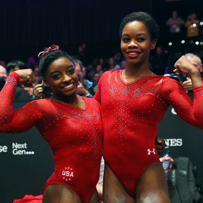 Simone Biles and Gabby Douglas.