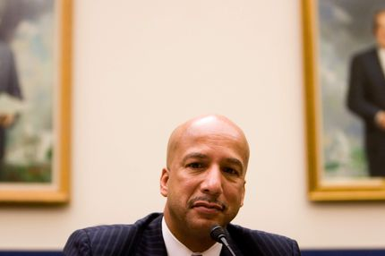 New Orleans mayor C. Ray Nagin testifies on Capitol Hill on September 23, 2008 in Washington, DC.