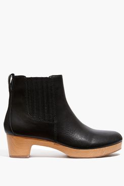 Madewell The Clog Boot in Leather