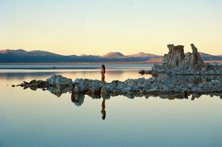 Musician Jessica Tonder, photographed at Mono Lake in California.
