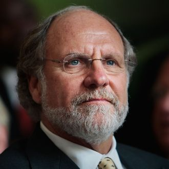 New Jersey governor Jon Corzine waits to speak in Newark Penn Station before signing a bill into law providing development money to his state July 27, 2009 in Newark, New Jersey. The New Jersey Economic Stimulus Act of 2009 provides millions of dollars in stimulus funds for affordable housing, transportation, business initiatives, and other job-creating efforts.