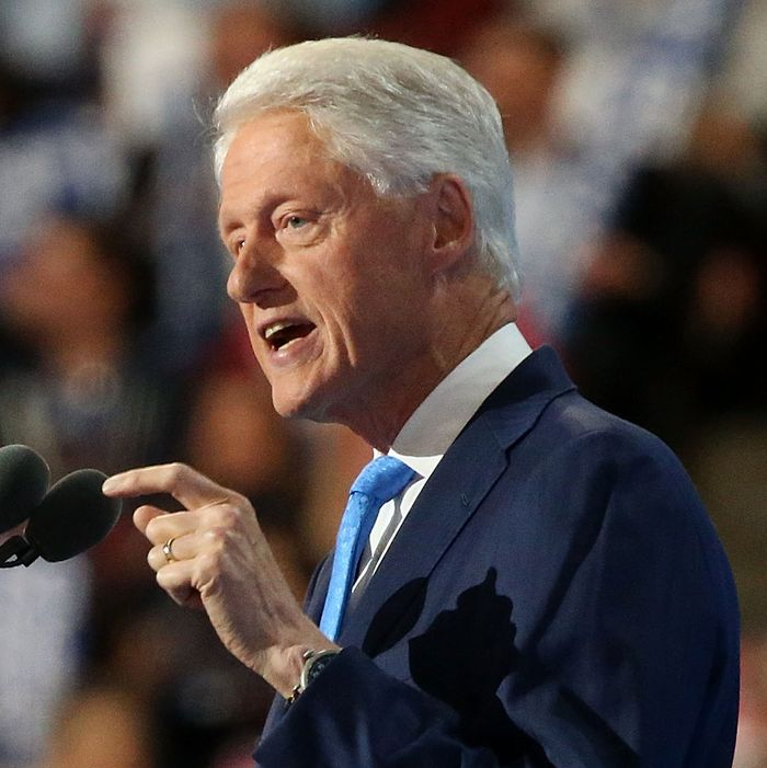 Bill Clinton speaks at the Democratic National Convention.
