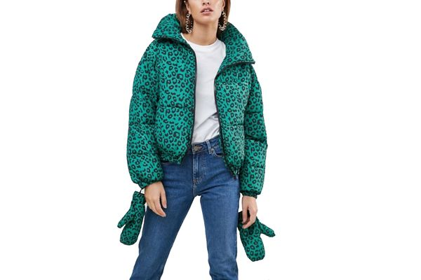 Puffer Jacket with Mittens