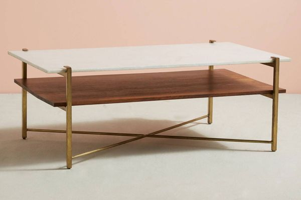 Contemporary Ash//Marble Coffee Table genuine ....HIGH ST PRICE £500+