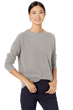 Goodthreads Women's Wool Blend Thermal Stitch Crewneck Sweater