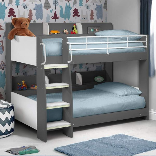 Happy Beds Wood and Metal Bunk Bed
