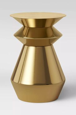 Project 62 Zeeland Brass Drum Accent Table Gold