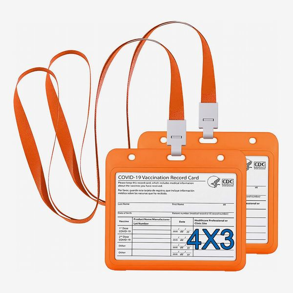 CDC Vaccination Card Protector with Lanyard