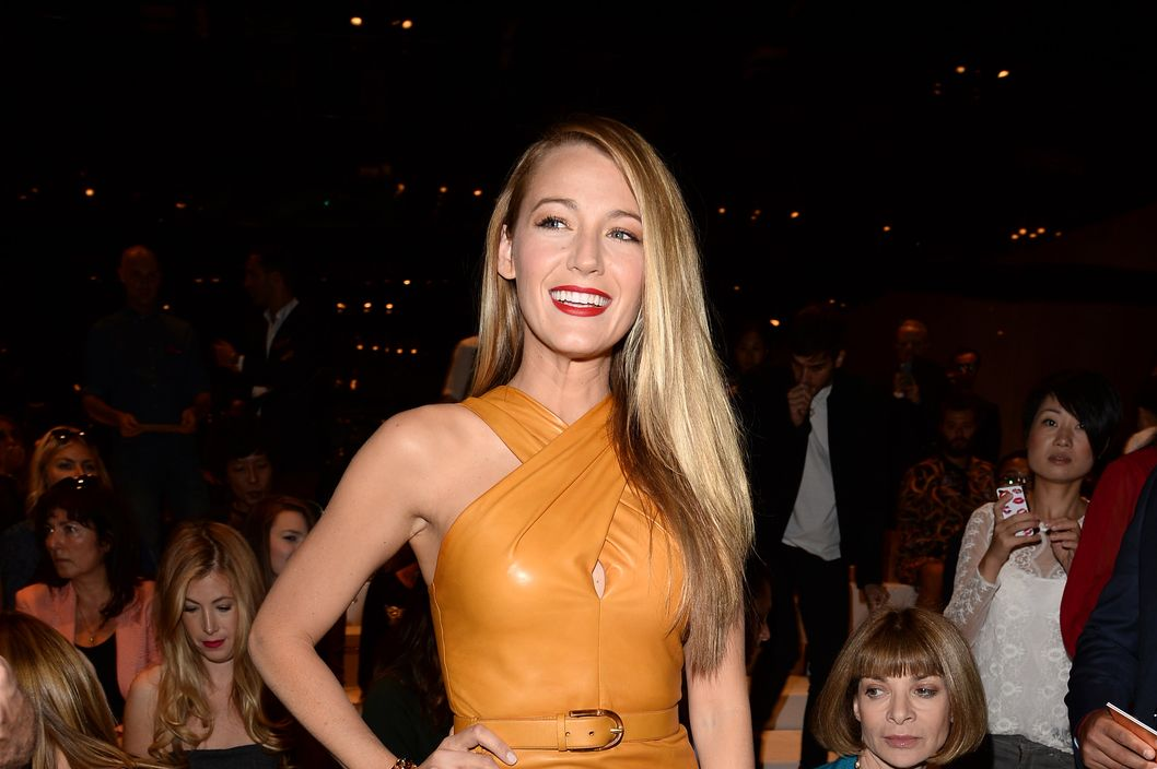 MILAN, ITALY - SEPTEMBER 18:  Blake Lively attends the Gucci show as part of Milan Fashion Week Womenswear Spring/Summer 2014 on September 18, 2013 in Milan, Italy.  (Photo by Venturelli/Getty Images for Gucci)