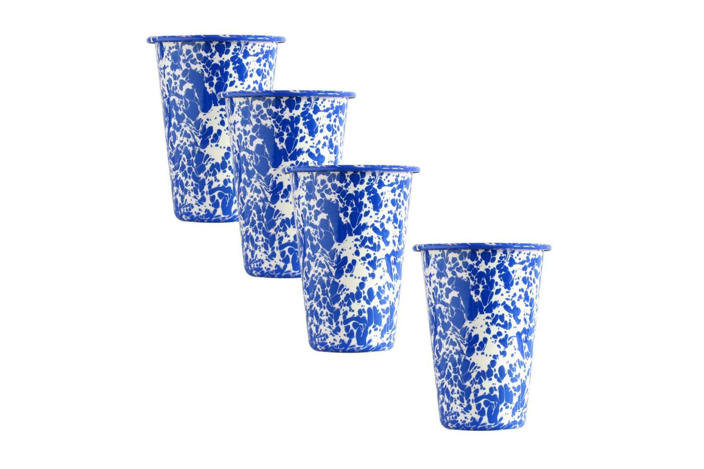 Crow Canyon Home Enamelware Tumblers, Set of 4