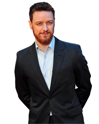 Scottish actor James McAvoy poses for pictures on the red carpet as he arrives to attend the world premiere of his latest film