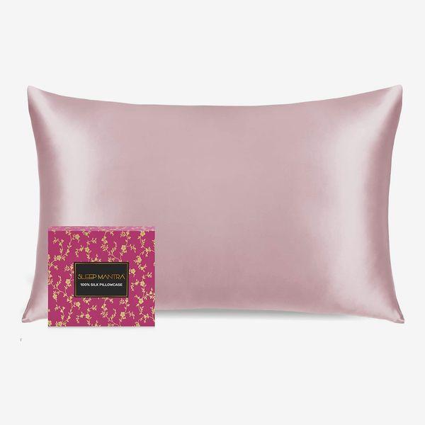 Sleep Mantra Pink Silk Pillowcase