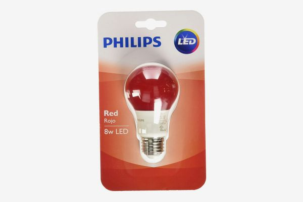 Philips Red LED Bulb, 8w