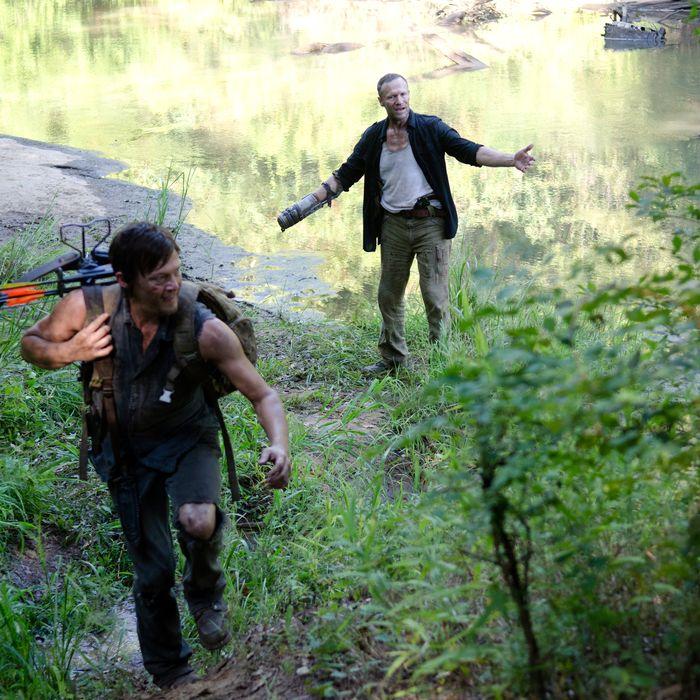Daryl Dixon (Norman Reedus) and Merle Dixon (Michael Rooker) - The Walking Dead - Season 3, Episode 10
